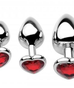 Chrome Hearts Anal Plugs with Gem Accents 3 Pack