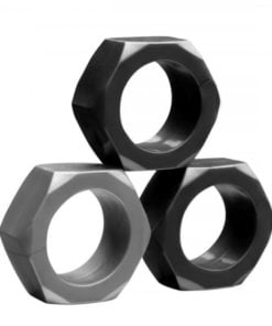 Tom Of Finland Hex Nut Cock Ring Set Of 3