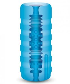 Zolo Backdoor Squeezable Vibrating Stroker Blue