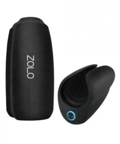 Zolo Cockpit Palm Sized Squeezable Stimulator Stroker  Black