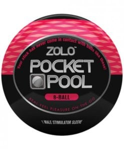 Zolo Pocket Pool 8 Ball Red Male Stimulator Sleeve