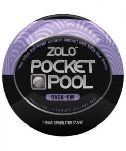 Zolo Pocket Pool Rack Em Purple Sleeve