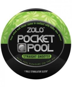 Zolo Pocket Pool Straight Shooter Green Sleeve