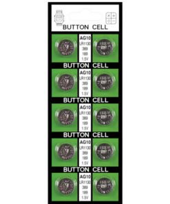 Button Batteries  AG10 (card of 10)