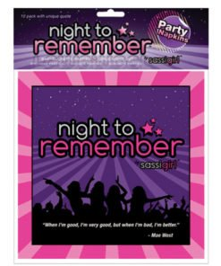 Night to remember standard 6.5in napkins (10 pack) by sassi girl