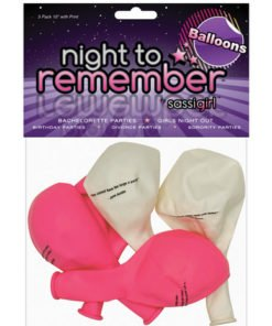 Night to remember 10in balloons w/print – pack of 5