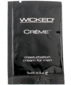 Wicked sensual care collection 0.1 oz creme to liquid masturbation cream for men packette – creme